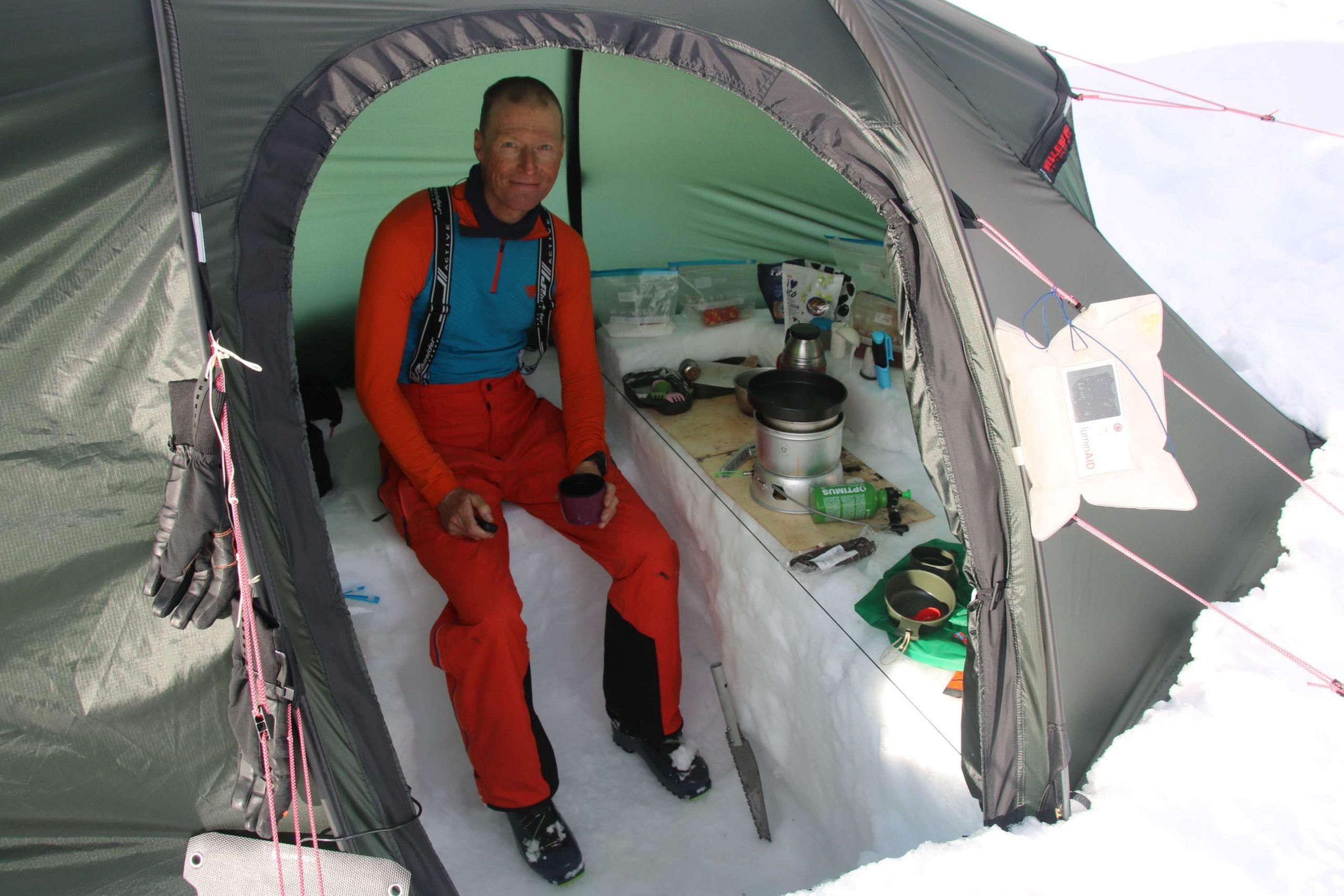 Wintercamp im Sarek-Nationalpar,Lappland
